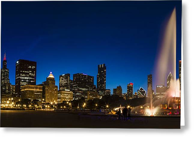 Buckingham Fountain Just After Sunset  Greeting Card by John McGraw