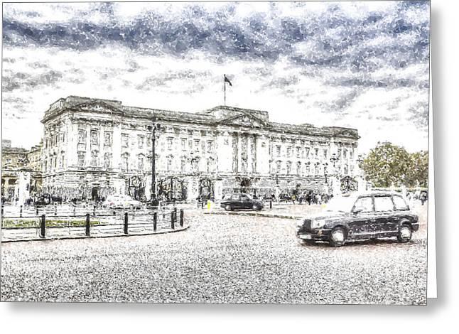 Buckingham Palace Snow Greeting Card