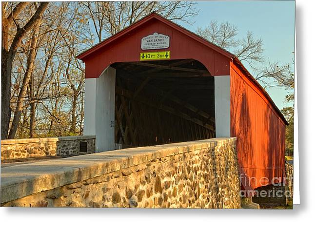 Bucks County Van Sant Covered Bridge Greeting Card
