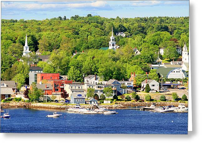 Greeting Card featuring the photograph Bucksport Maine Waterfront by Barbara West