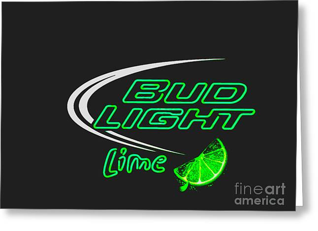 Bud Light Lime 2 Greeting Card by Kelly Awad