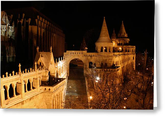 Greeting Card featuring the photograph Budapest At Midnight by Jon Emery