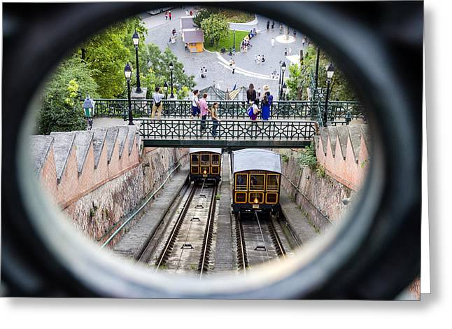 Budapest Castle Hill Funicular Greeting Card