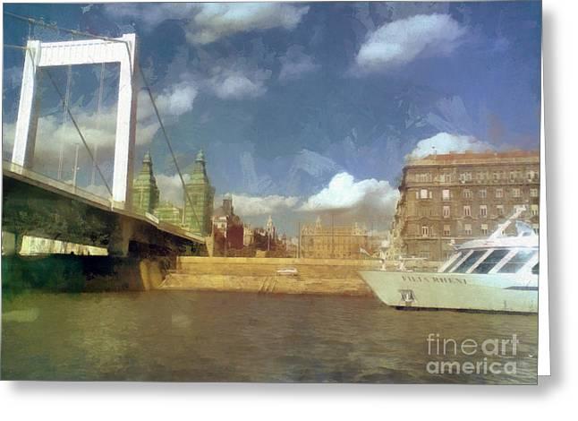 Budapest Elisabeth Bridge Greeting Card