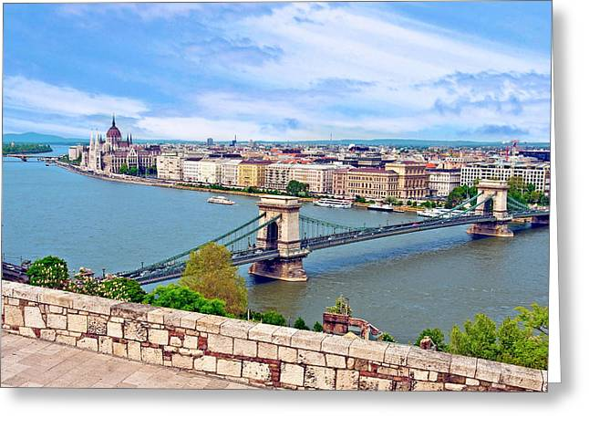 Budapest, Hungary, Scenic View Greeting Card by Miva Stock