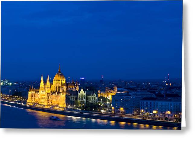 Budapest Greeting Card by Kobby Dagan