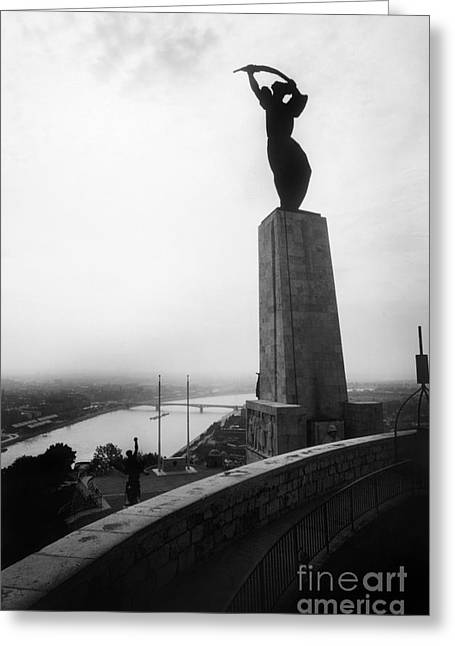 Budapest: Liberation Statue Greeting Card
