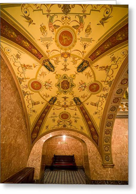 Budapest Opera House Foyer Ceiling Greeting Card by Artur Bogacki