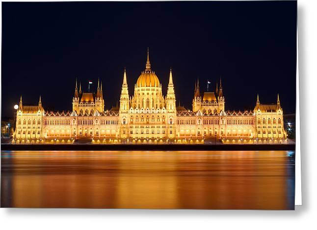 Budapest Parliament Greeting Card by Ioan Panaite