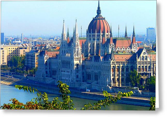 Budapest Parliament Greeting Card by Kay Gilley