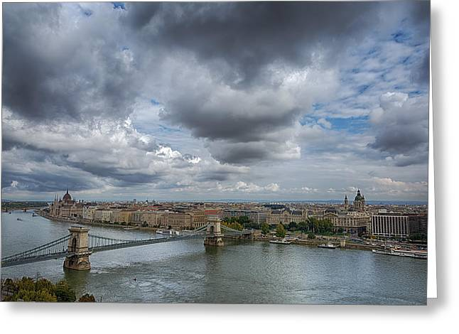 Budapest Skyline And Sky Greeting Card