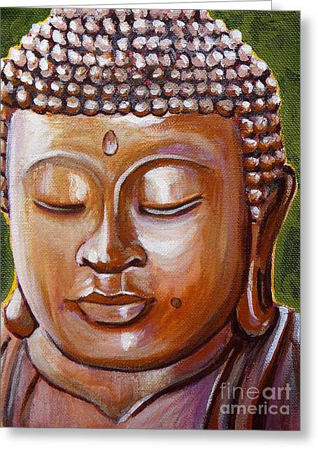 Buddha 1 Greeting Card by Gayle Utter