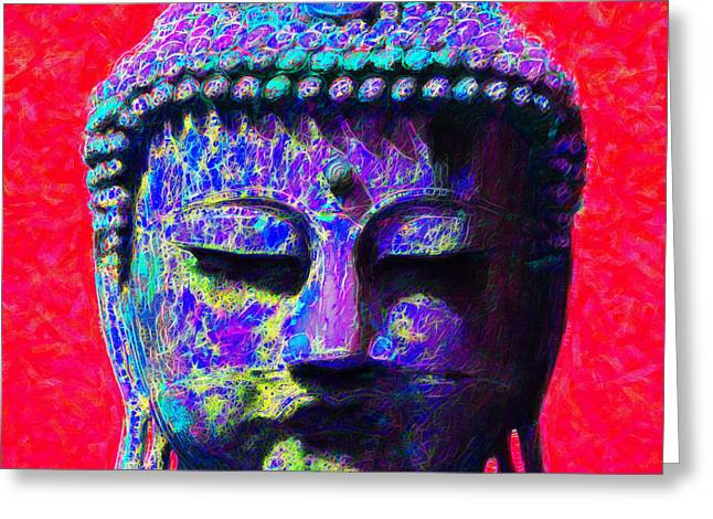 Buddha 20130130p128 Greeting Card by Wingsdomain Art and Photography