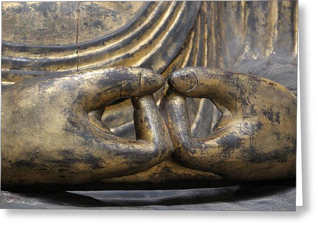 Greeting Card featuring the photograph Buddha 3 by Lynn Sprowl