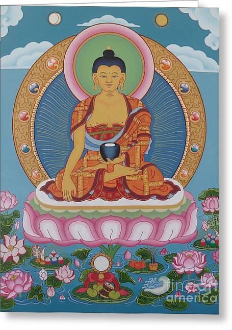 Buddha Arising Greeting Card by Andrea Nerozzi