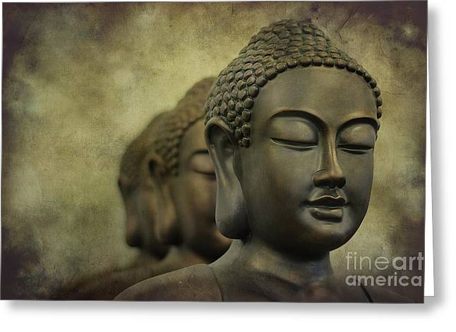 Buddha Bronze Greeting Card