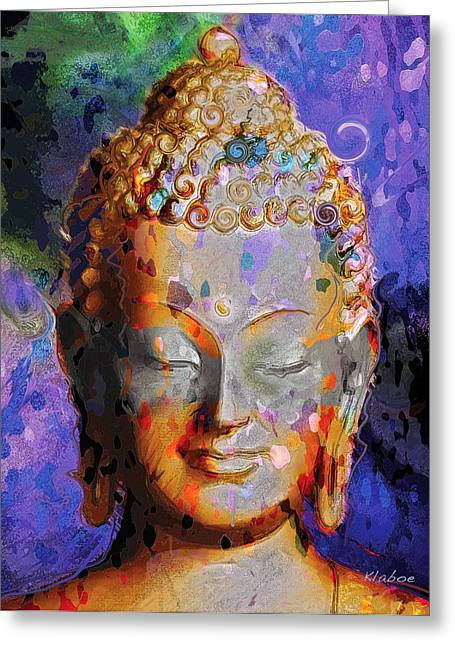 Greeting Card featuring the painting Buddha by David Klaboe