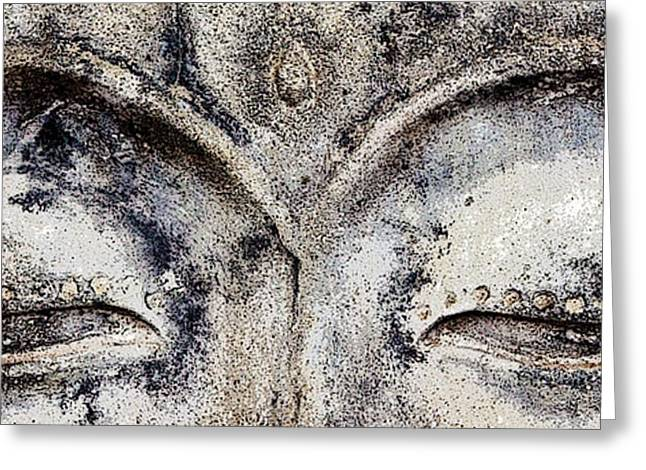 Greeting Card featuring the photograph Buddha Eyes by Roselynne Broussard