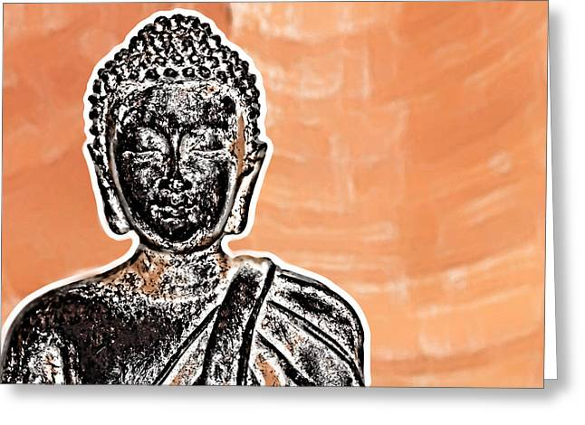 Buddha Face Greeting Card by Semmick Photo