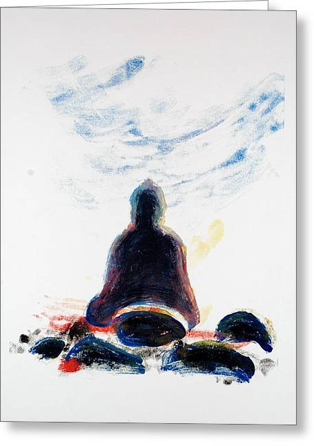 Buddha Fifty-one Greeting Card by Valerie Lynch