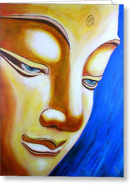 Buddha Head Gazing Art Greeting Card