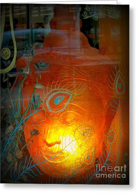 Buddha Head Greeting Card