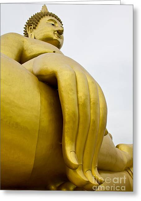 Buddha Image Greeting Card by Tosporn Preede