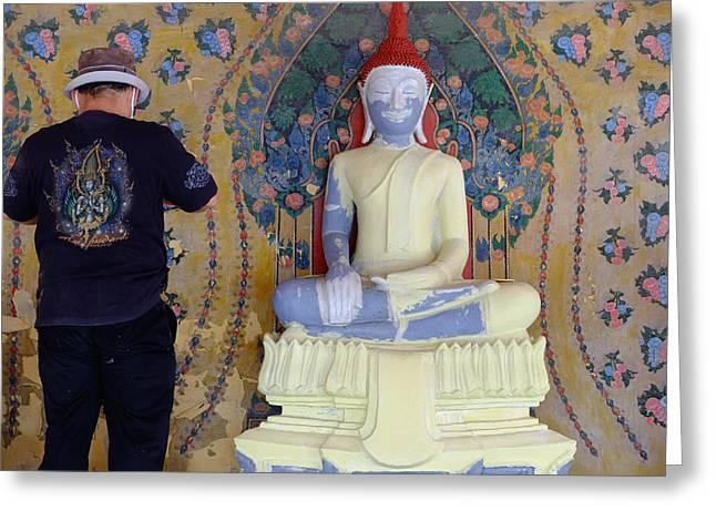 Buddha In Making Greeting Card