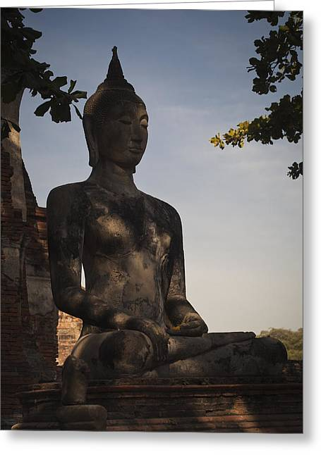Buddha In Wat Mahathat Greeting Card
