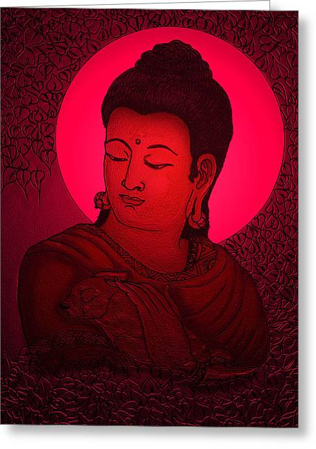 Buddha  Greeting Card by Loganathan E