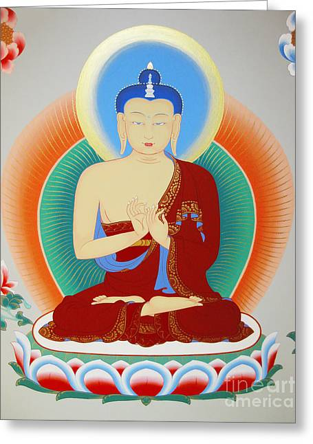 Buddha Maitreya Greeting Card by Sergey Noskov
