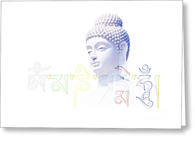 Buddha Mantra  Greeting Card by Tim Gainey