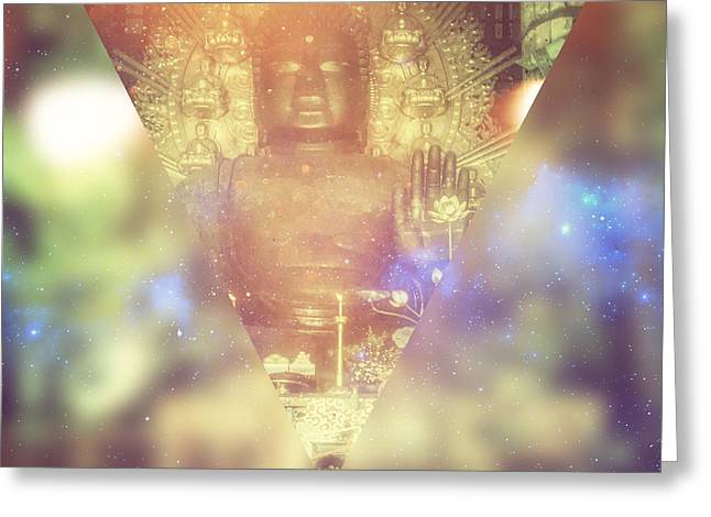 Buddha May Peace Prevail Within You Greeting Card