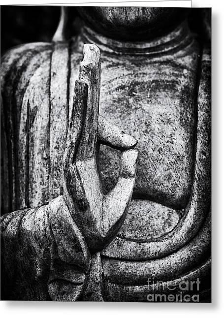 Buddha Mudra Greeting Card by Tim Gainey
