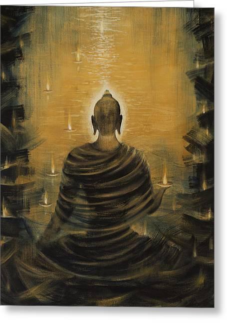 Buddha. Nirvana Ocean Greeting Card