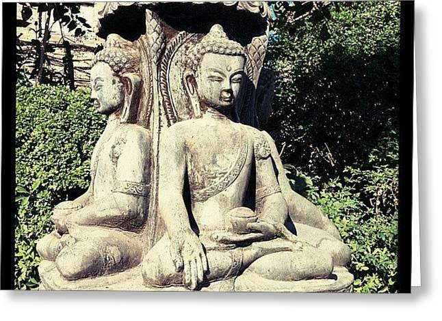 Buddha Park Greeting Card