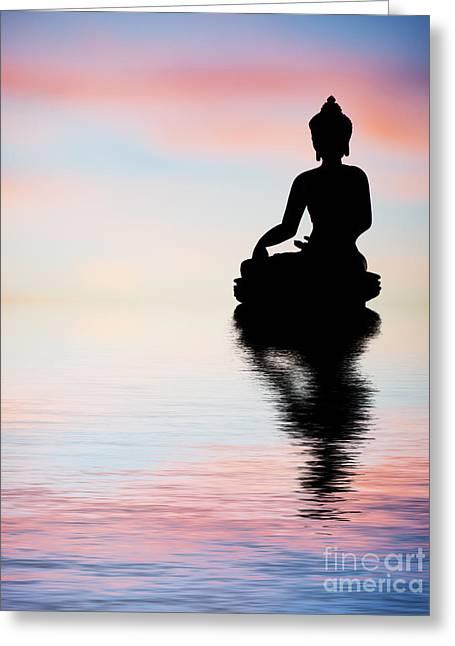 Buddha Reflection Greeting Card