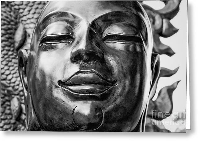 Buddha Smile Greeting Card by Dean Harte