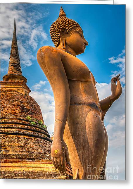 Buddha Statue Greeting Card by Adrian Evans