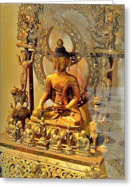 Buddha Statue - Albert Hall - Jaipur India Greeting Card by Kim Bemis
