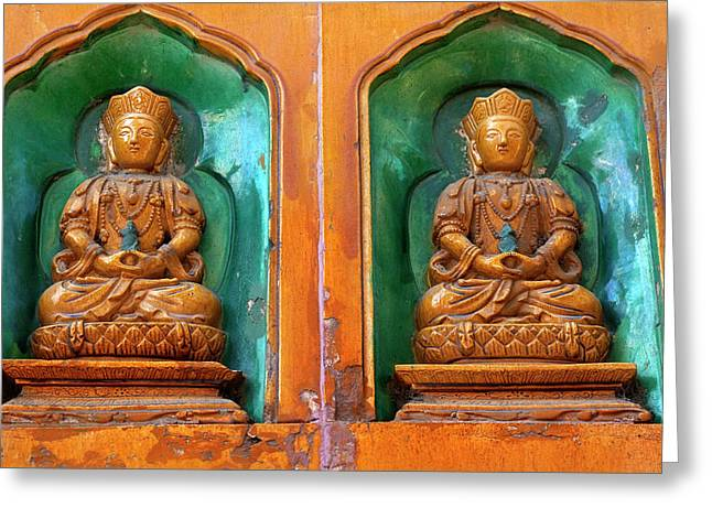 Buddha Statues Summer Palace Wall Greeting Card