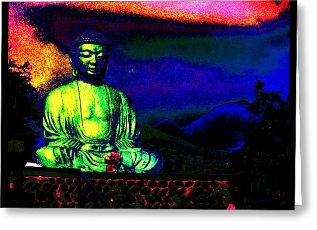 Buddha Greeting Card by Susanne Still