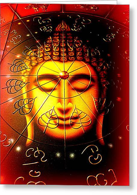 Buddha Greeting Card by The Creative Minds Art and Photography