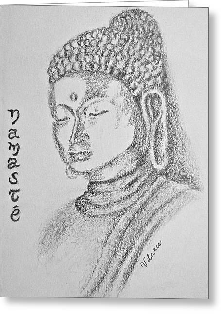 Buddha Greeting Card by Victoria Lakes