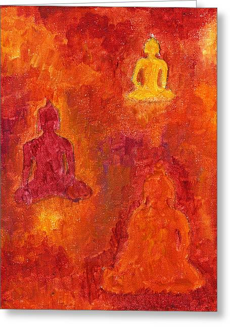 Buddhas Of Compassion Greeting Card