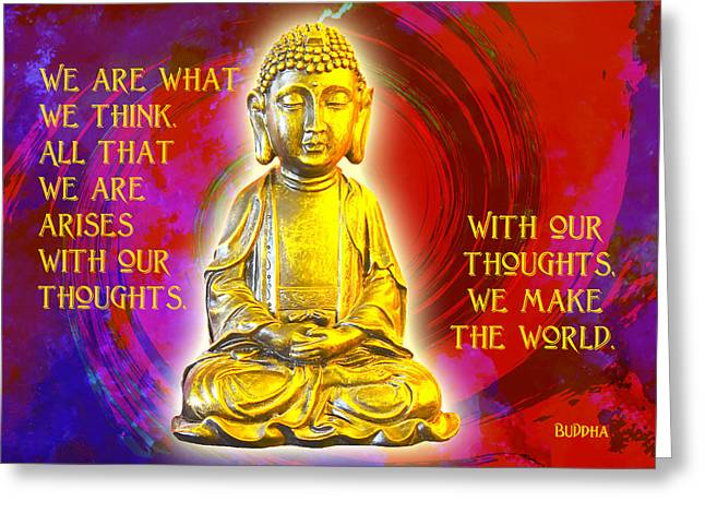 Greeting Card featuring the photograph Buddha's Thoughts 2 by Ginny Gaura