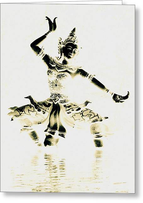 Buddhist Dancer Greeting Card