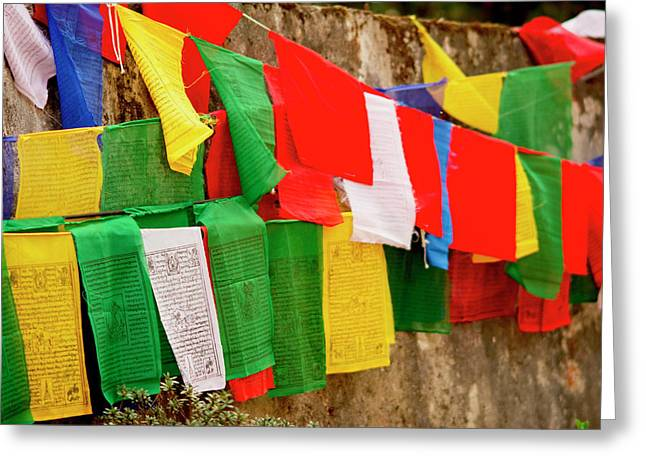Buddhist  Monastery In Sikkim India Greeting Card