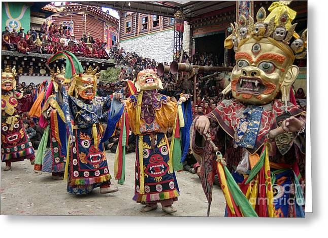 Buddhist Opera - Kham Tibet Greeting Card by Craig Lovell