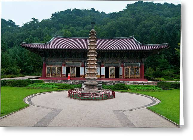 Buddhist Pohyon-temple, Mount Greeting Card